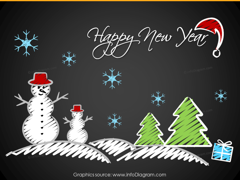 Winter Holidays graphics (PPT icons)