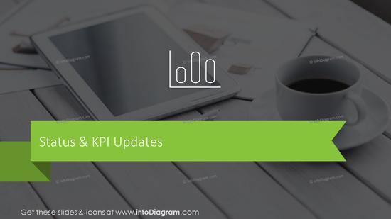 Status & KPI updates transition slide