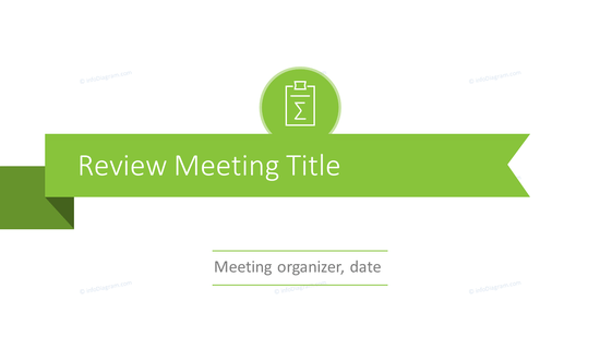 Review update meeting title slide