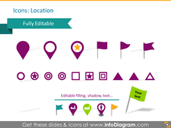 map icons location flag star point pptx clipart