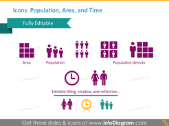 map icons population density pictogram area pptx clipart