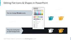 Editing Flat Icons & Shapes in PowerPoint