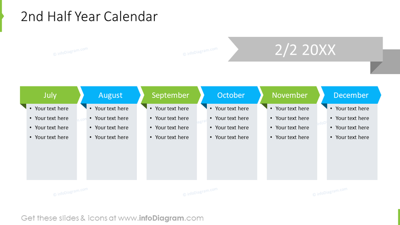 2nd Half Year Calendar infographics for review meeting