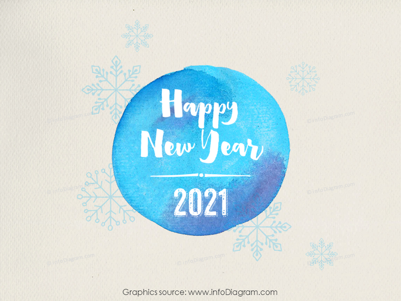 hand drawn watercolor text happy new year 2016 image