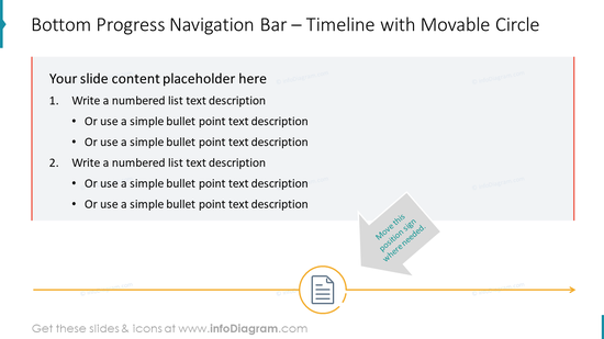 Bottom Progress Navigation Bar – Timeline with Movable Circle