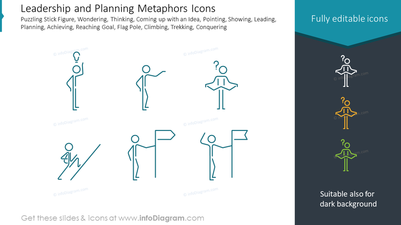 Leadership and Planning Metaphors Icons
