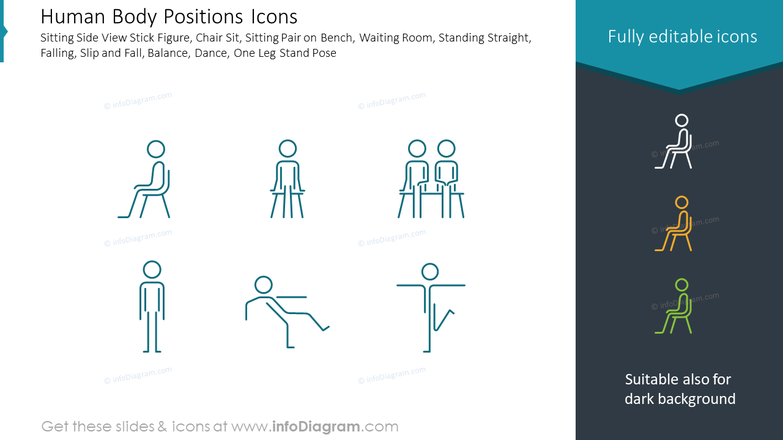Human Body Positions Icons