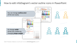 How to edit infoDiagram's vector outline icons in PowerPoint