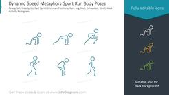 Dynamic Speed Metaphors Sport Run Body Poses