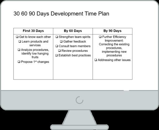 30 60 90 Days development plan